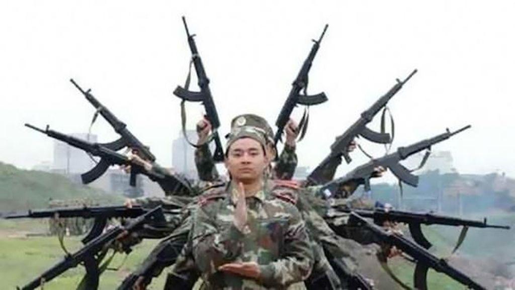 Sisi Humoris Para Tentara dalam Jepretan Kamera