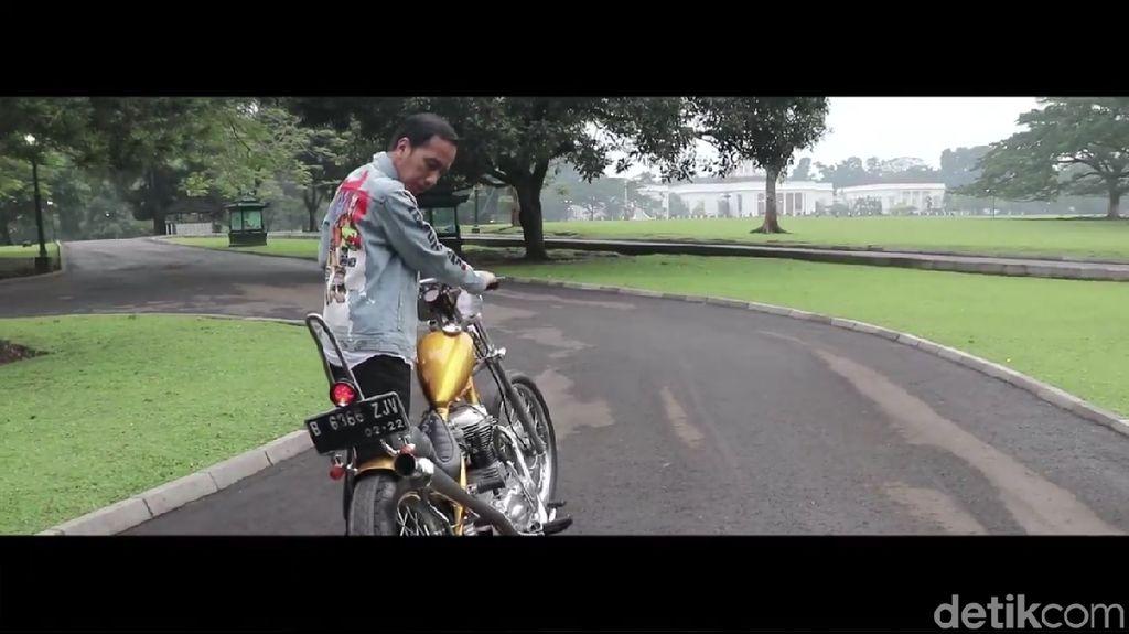 Seperti Dilan, Ini Gaya Keren Jokowi Geber Chopper