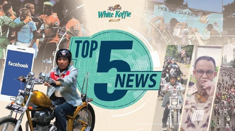 Boikot Facebook Cs 11 April, Jokowi Touring Naik Chopper Emas