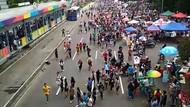 Warga di CFD Thamrin Sempat Panik Gara-gara Teriakan Gedung Roboh