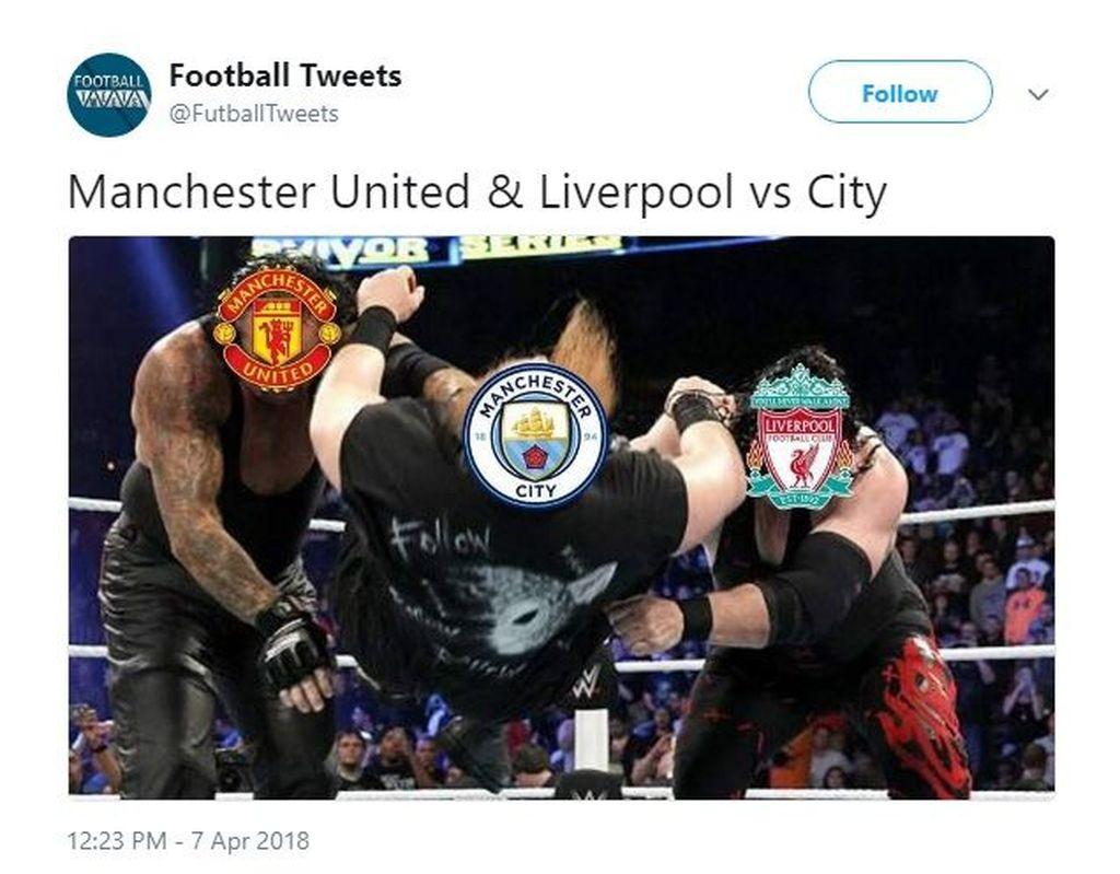 Padahal baru kalah dari Liverpool, sekarang keok sama MU. Foto: Istimewa