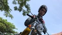 Pertama Kali, Jokowi Touring ke Palabuhanratu Naik Chopper Emas