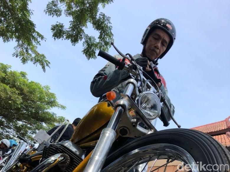 Mengenal Helm yang Dipakai Jokowi Touring ke Sukabumi