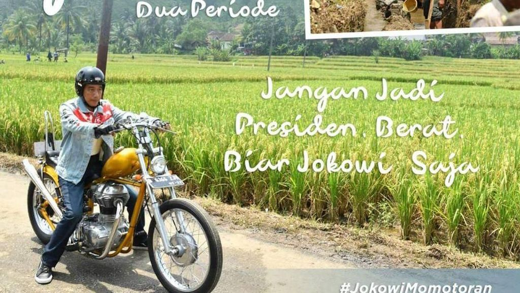 Gaya Motoran Jokowi Bikin Medsos Banjir Meme Kocak