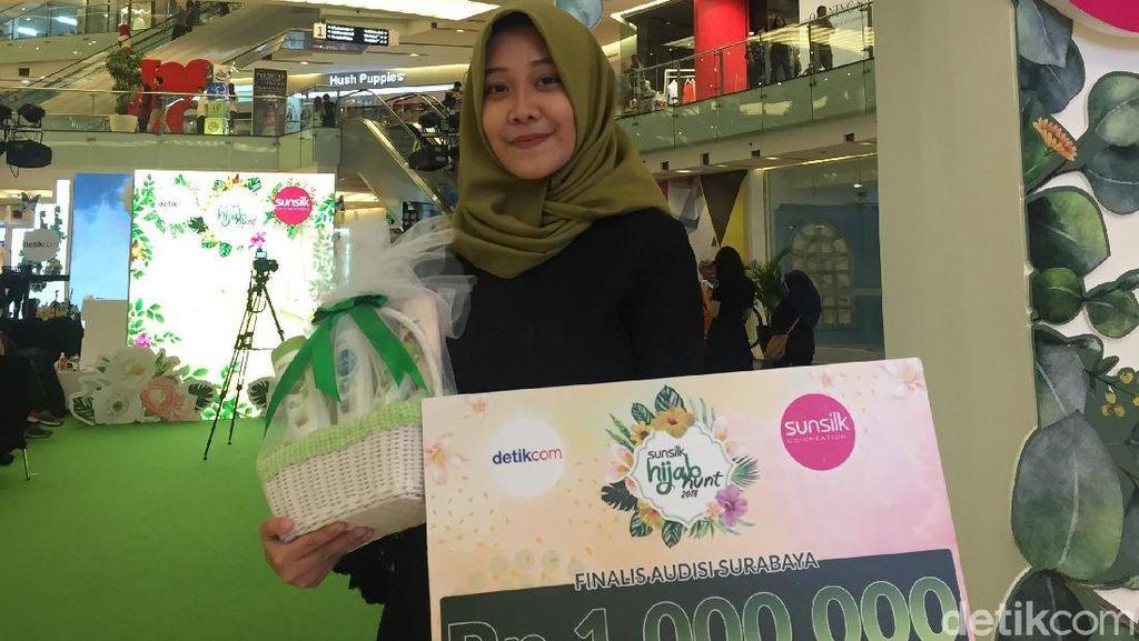 Ini Tia Shafira, Si Jago Nyinden Juara Audisi Sunsilk Hijab Hunt di Surabaya