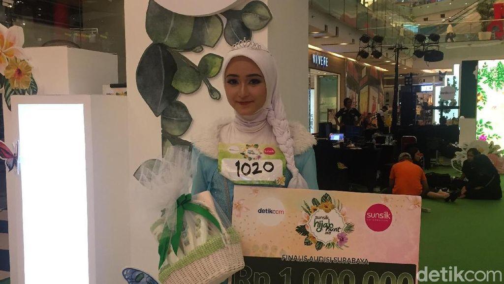 Pernah Gagal, Fadila Yahya Menang Audisi Sunsilk Hijab Hunt Surabaya