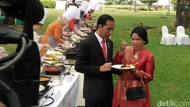 Potret Iriana Jokowi Saat Menenteng Minuman dan Makan Bareng Donald Trump