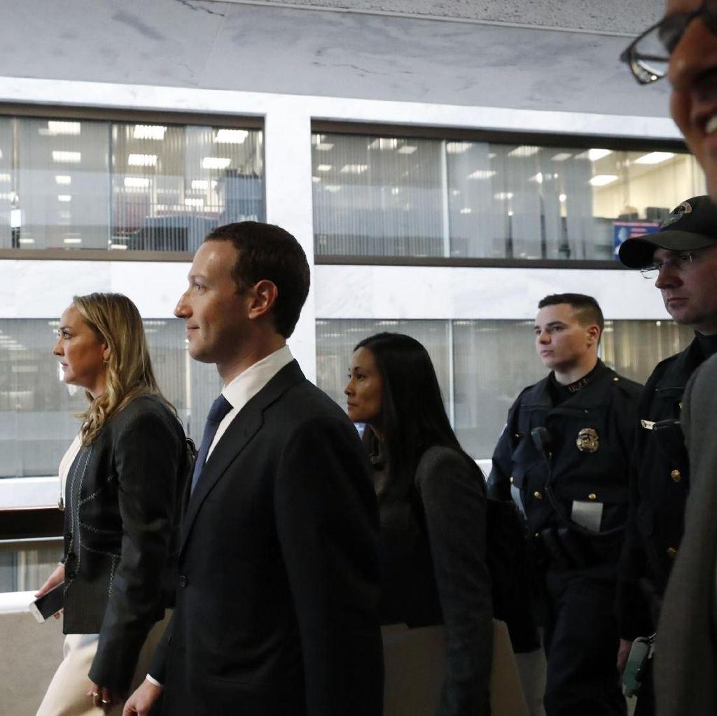 Zuckerberg Dikawal Polisi Siap Duel dengan Parlemen