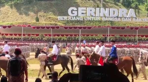 Saat Anies Berkuda di Momen Gerindra Deklarasi Prabowo Capres