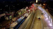 Penampakan dari Udara Underpass Mampang di Malam Hari