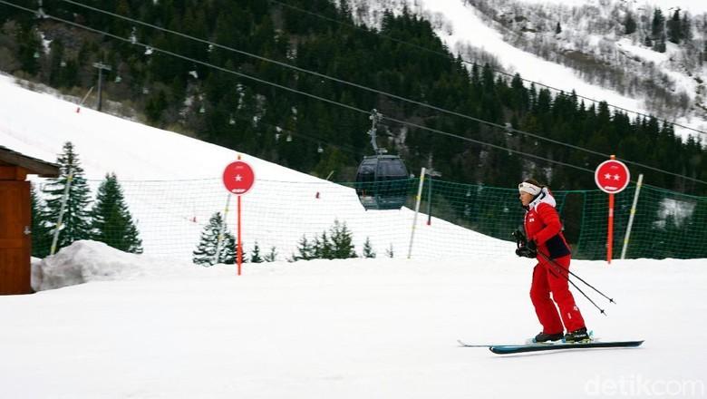 Foto:  Main ski di Club Med Valmorel, Prancis (Wahyu/detikTravel)