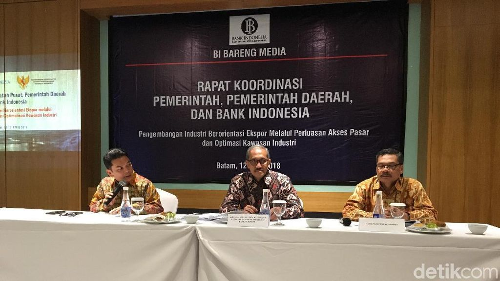 BI-Pemerintah Rapat di Batam Bahas Industri Berbasis Ekspor