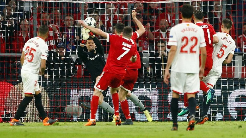 Bayern vs Sevilla Masih Tanpa Gol di Babak Pertama