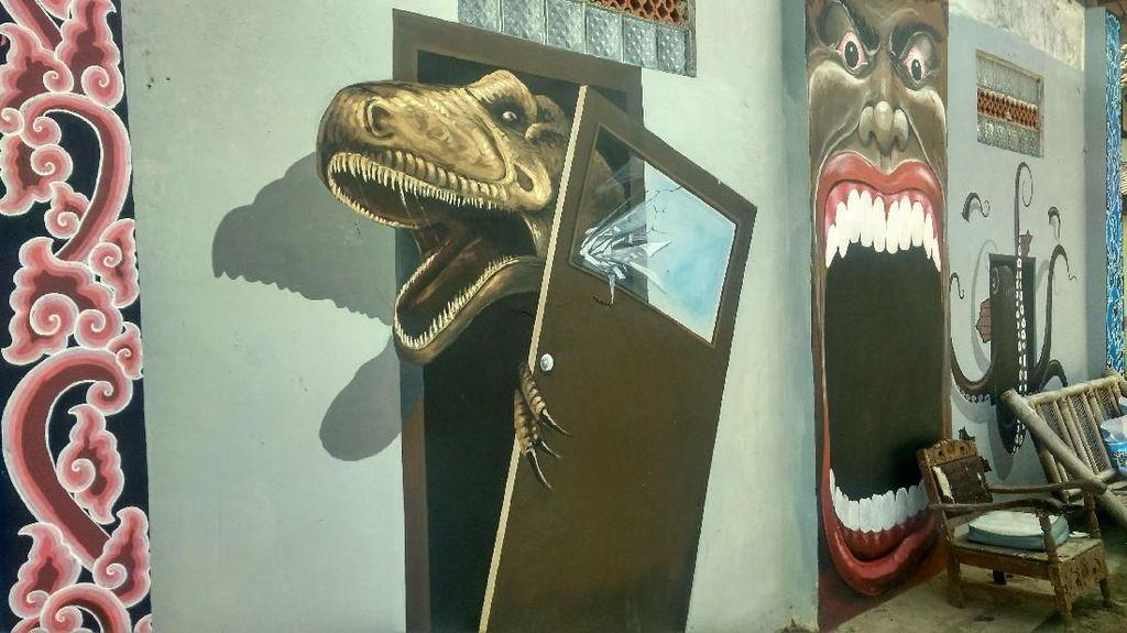 Foto: Melihat Kampung Berhias Mural 3D di Cirebon