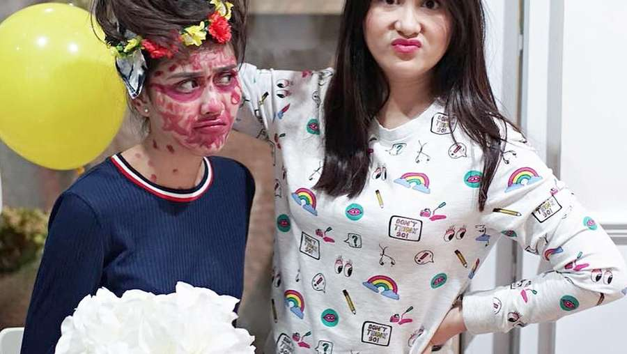 Wajah Cemong Syahnaz Sadiqah saat Bridal Shower