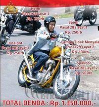 Meme Jokowi naik motor harusnya kena denda