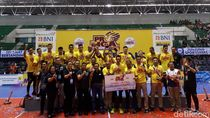Bhayangkara Samator Juara Usai Kalahkan Bank SumselBabel