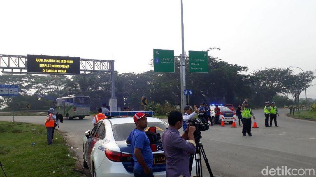 Pengendara Kebingungan dengan Uji Coba Ganjil Genap di Tol Tangerang