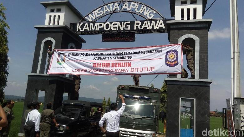 Melanggar Izin, Objek Wisata Kampoeng Rawa Ambarawa Ditutup