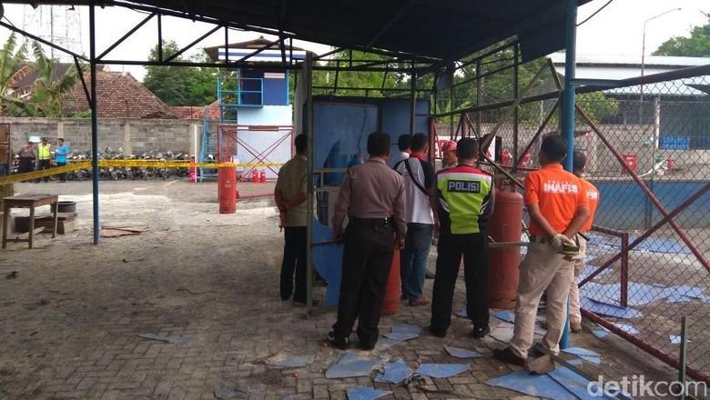 Tim Labfor Polda Jatim Selidiki Ledakan di SPBE Kediri