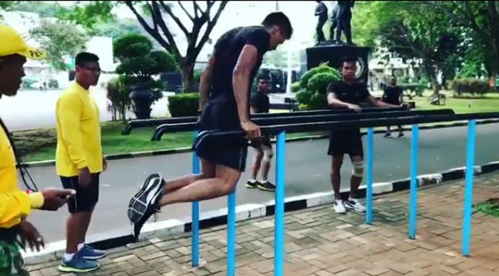 Sirkuit untuk latihan pun didesain khusus dan diberikan secara bertingkat, bertahap, dan berlanjut. Foto: Instagram/suhartono323