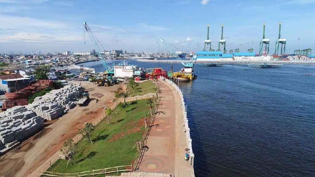 Penampakan Terkini Tanggul Laut Pengaman Jakarta dari Banjir