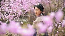 Foto: Dian Sastro, Hanbok & Sakura Bersemi di Korea