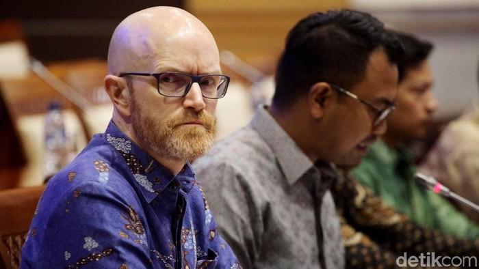 Bos Facebook dalam rapat dengan Komisi I DPR. Foto: Lamhot Aritonang/detikINET
