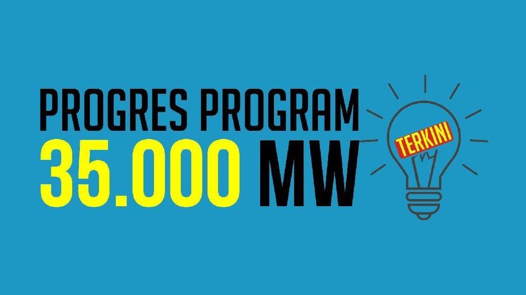 Mau Tahu Perkembangan Terkini Proyek 35.000 MW? Ini Datanya