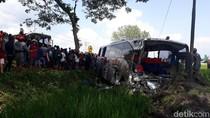 Kronologi Kecelakaan Frontal di Ngawi, Bus Eka dan Mira Adu Muka