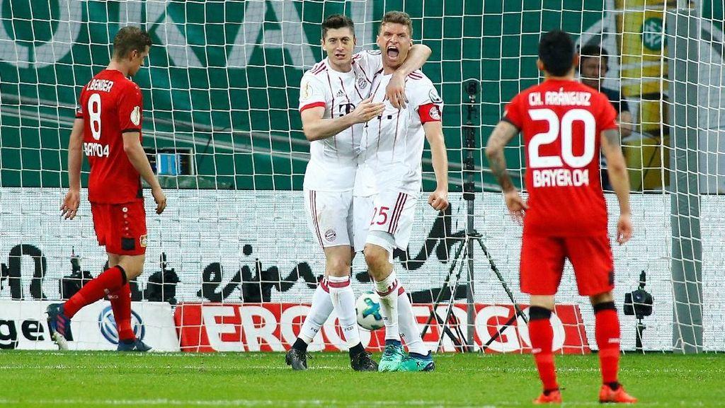 Gasak Leverkusen 6-2, Bayern Melangkah ke Final