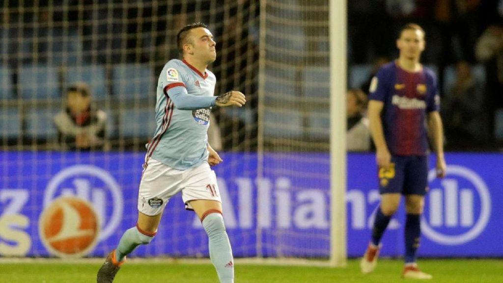 Gol Handball Aspas Bikin Pendukung Barcelona Berang