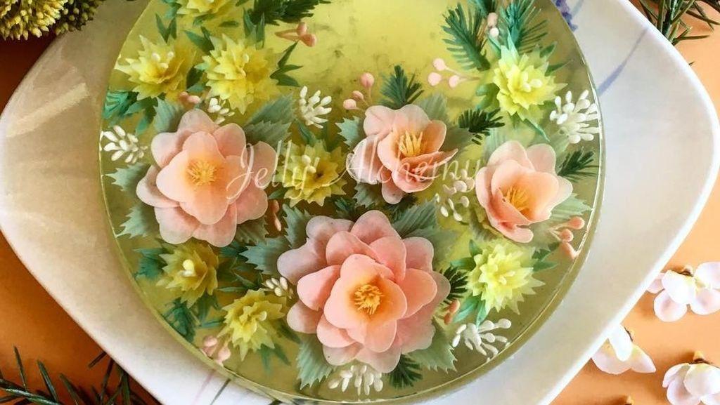 Keren! Kreasi Jelly Bunga Ini Dibuat dalam Bentuk 3 Dimensi