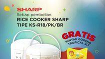 Cuma di Sini Beli Rice Cooker Dapat Minyak Goreng Gratis