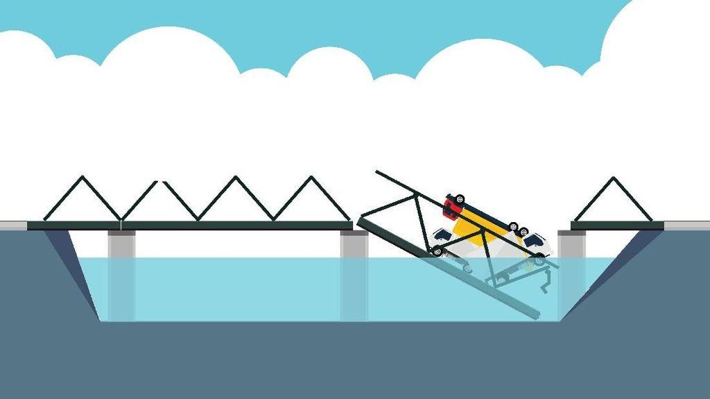 Ambrolnya Jembatan Penghubung Lamongan-Tuban