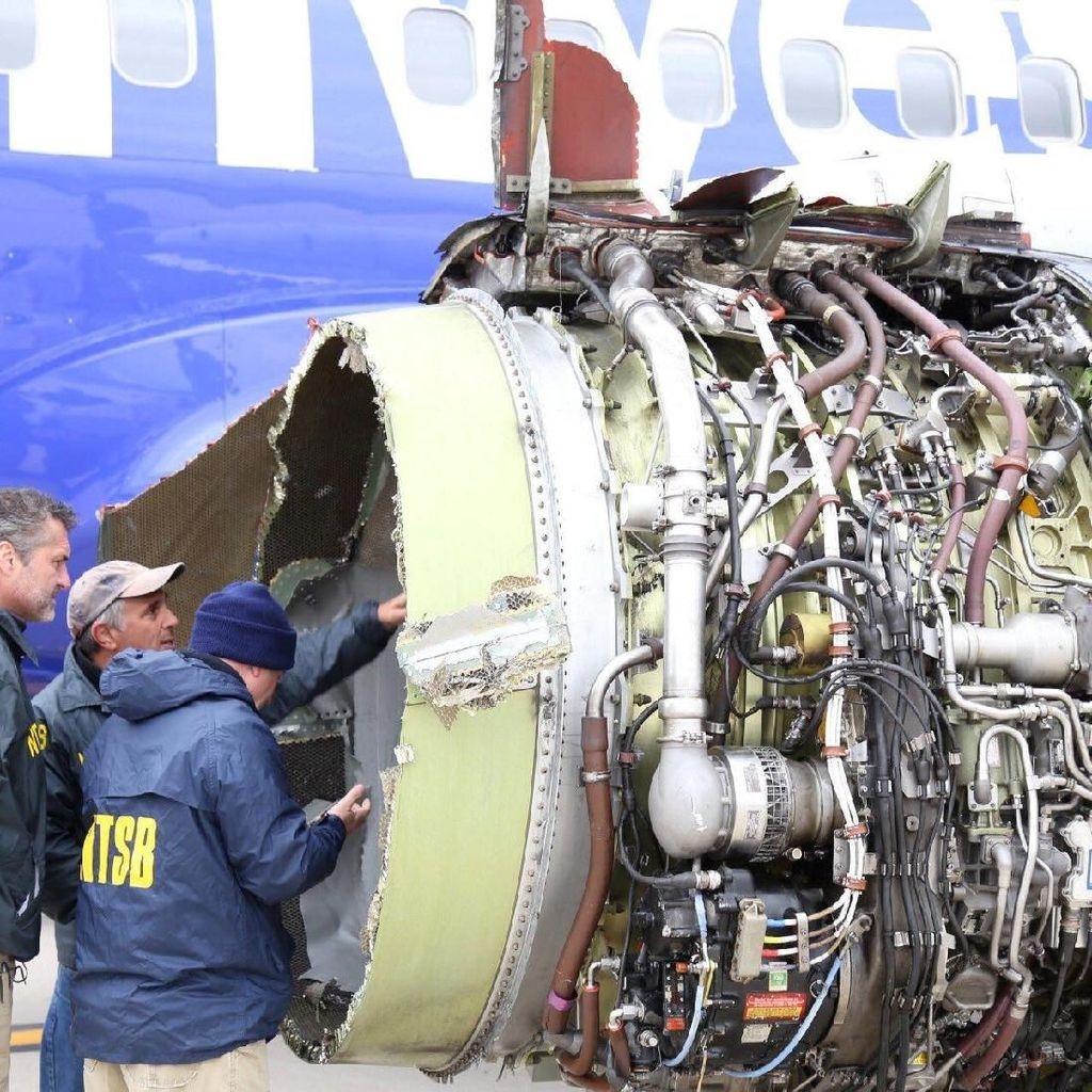 Video Ketegangan Penumpang Southwest Airlines saat Mesin Meledak