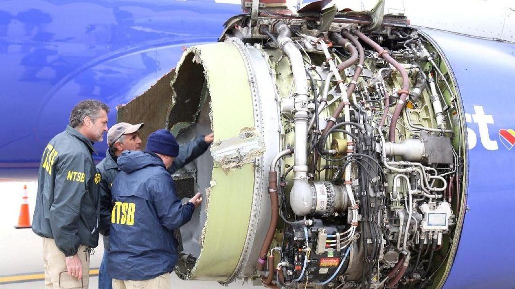 220 Mesin Pesawat Southwest Akan Diperiksa Usai Insiden Ledakan