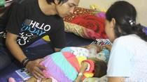 Tengok Evelin, Bayi 9 bulan yang Perutnya Membengkak