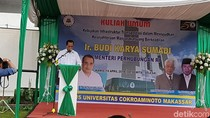 Beri Kuliah Umum di Makassar, Menhub Bicara Soal Tol Laut