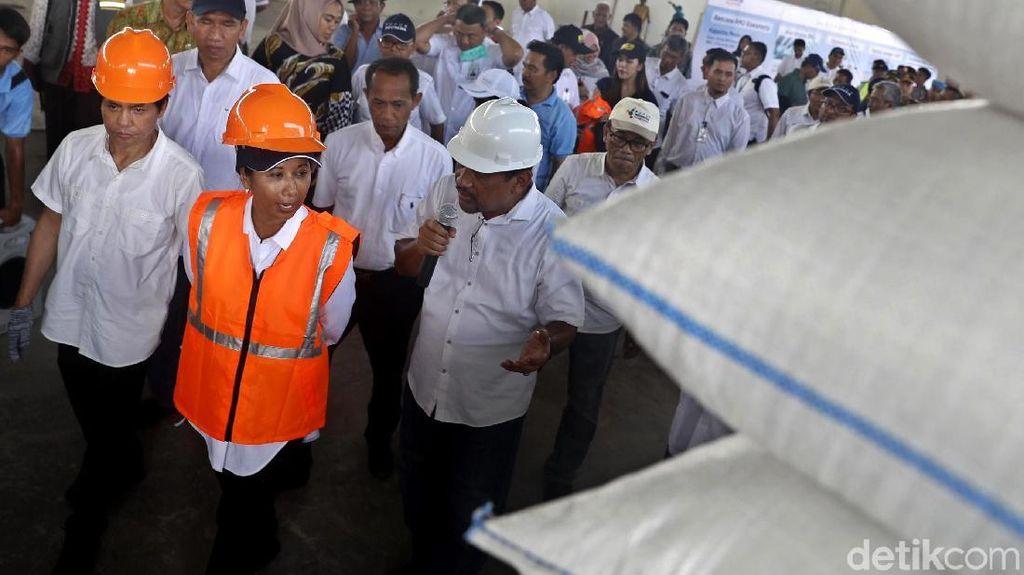 Menteri Rini Panen Raya 4000 Ton Gabah di Karawang