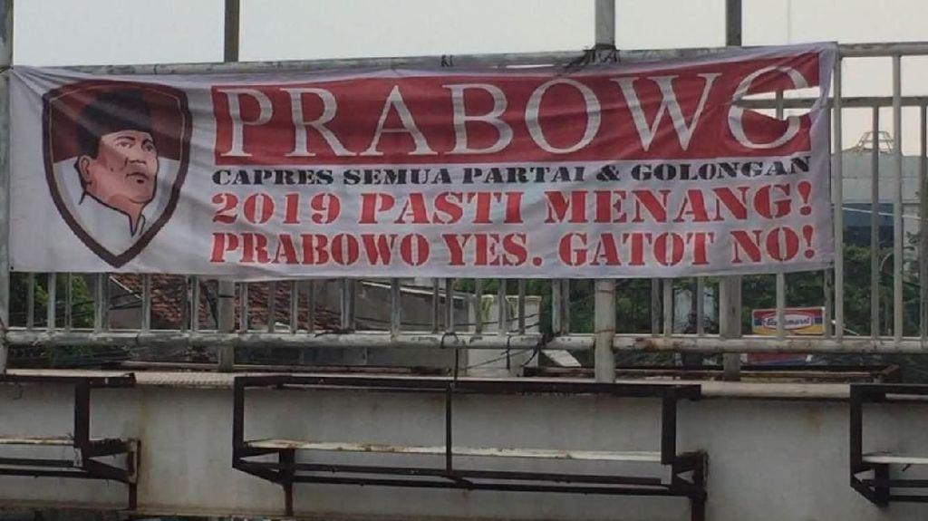 Spanduk Prabowo Yes, Gatot No! Beredar di Matraman