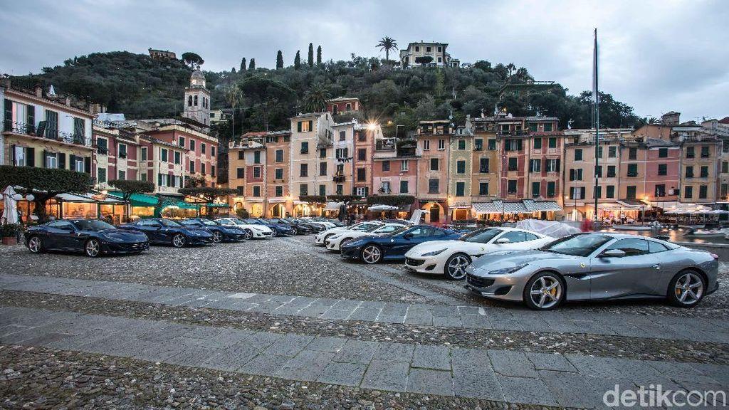20 Mobil Ferrari Arungi Jalanan Indah di Eropa