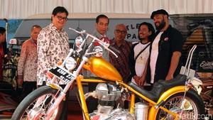 Motor Chopper Jokowi dan Cafe Racer Gibran Mejeng di IIMS 2018