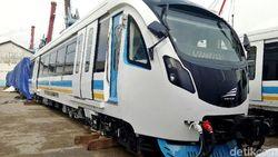 Kereta LRT Palembang Siap Diuji Coba di Lintasan