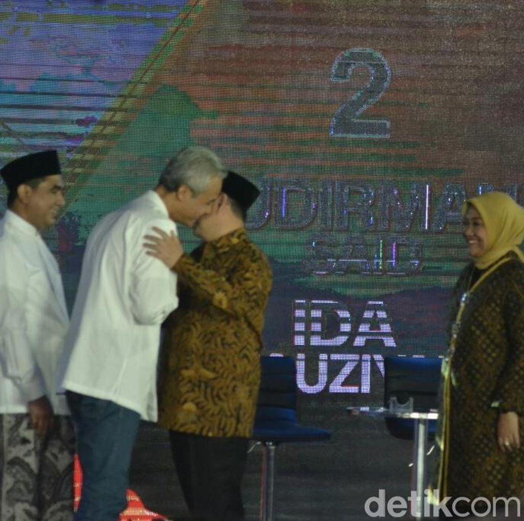 Saling Serang dan Ledek Ganjar dan Sudirman di Arena Debat