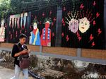 Mural Ondel-ondel Percantik Trotoar di Kuningan