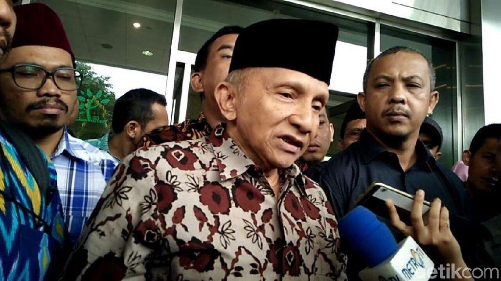 Jagokan Prabowo, Amien Sebut Elektabilitas Jokowi Turun