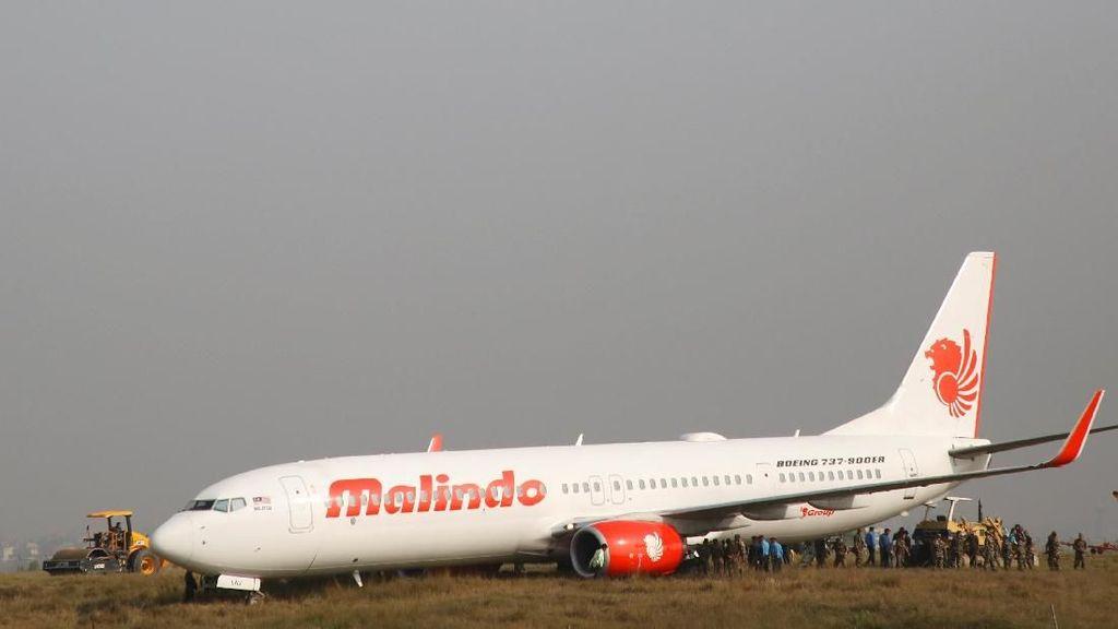 Video Pesawat Malindo Air yang Tergelincir di Nepal