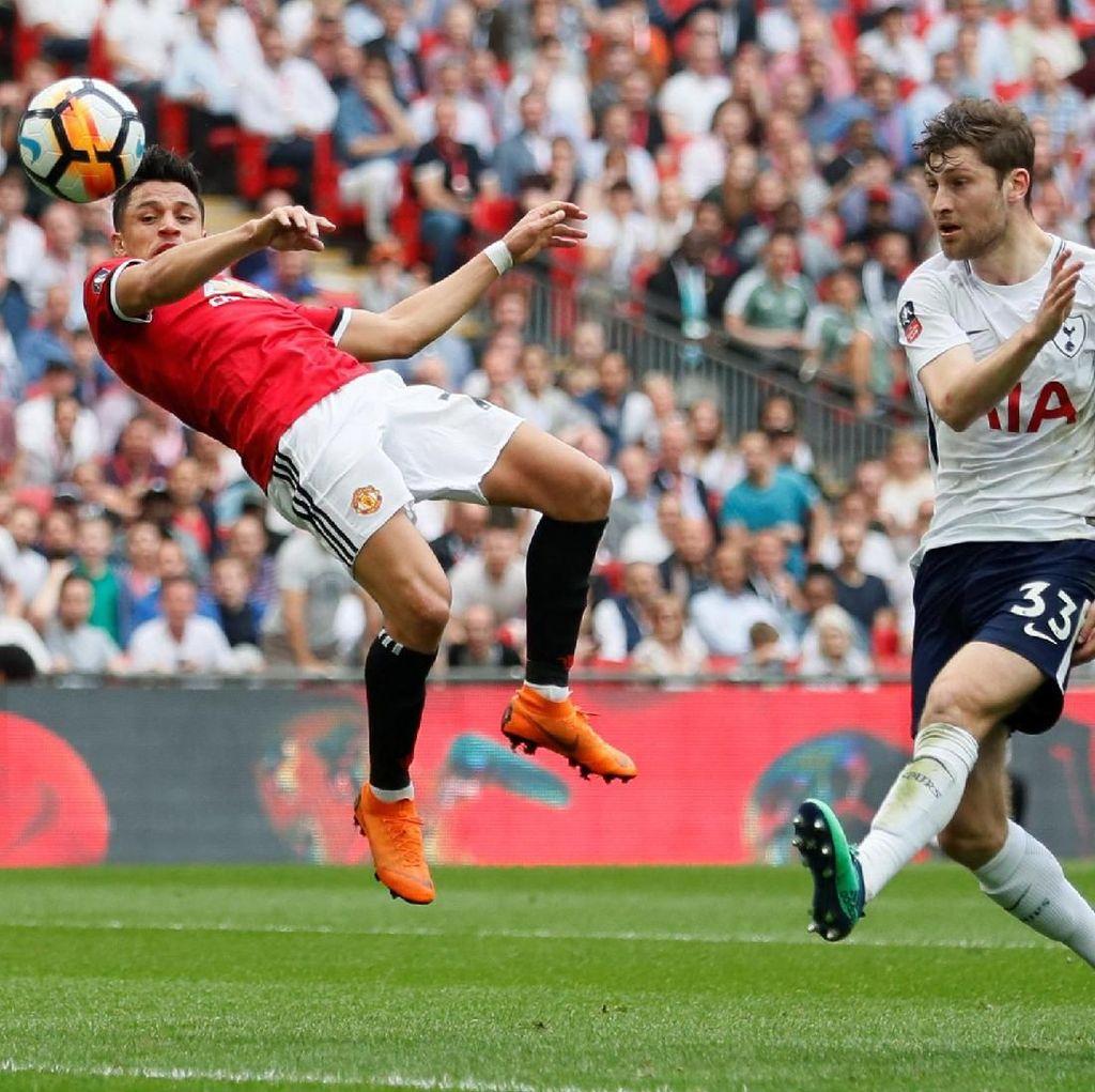 Babak I Selesai, Manchester United Vs Tottenham Sementara 1-1