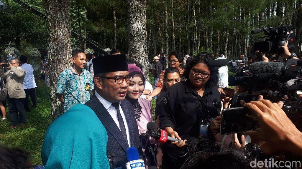 Tips Harmonis dari Ridwan Kamil untuk Syahnaz dan Jeje